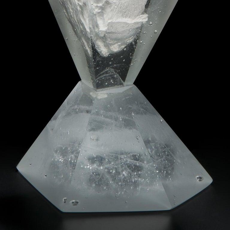 Unique Frost, a Clear Unique Glass Sculpture by Lene Tangen For Sale 1