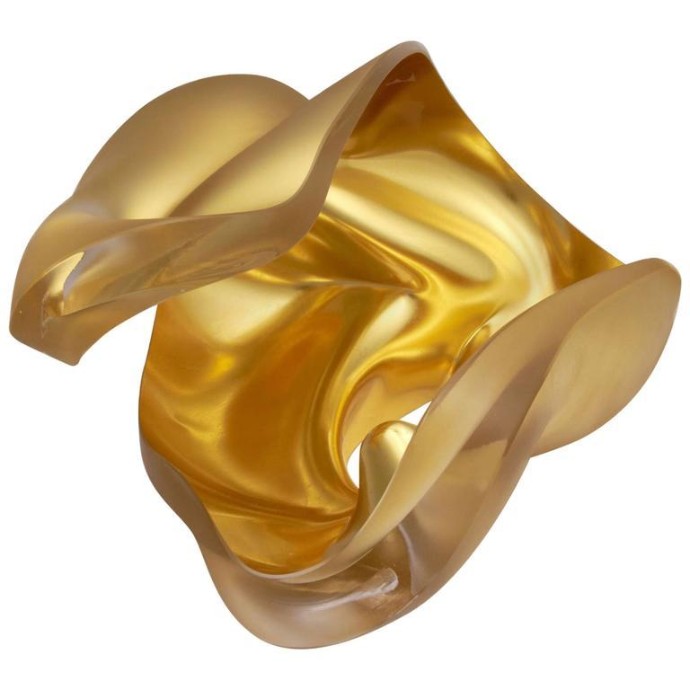 Unique Glass Sculpture by Barbara Nanning In Excellent Condition For Sale In New York, NY