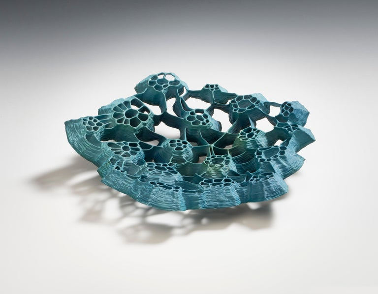 Hand-Crafted Unique Green Porcelain Vessel by Sidsel Hanum For Sale
