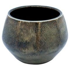 Unique Grey Stoneware Vase, Carl-Harry Stålhane, Rörstrand, 1961