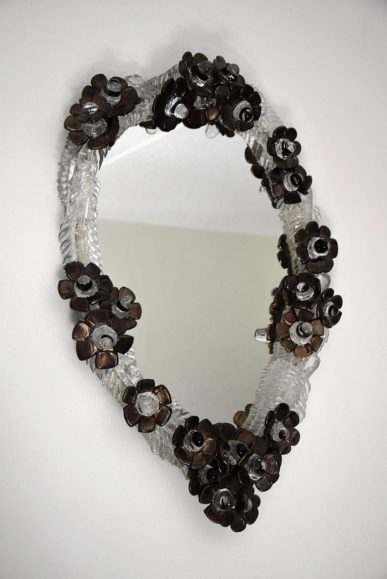 Unique Handmade Glass Mirror by Artist Debby Eerens For Sale 7
