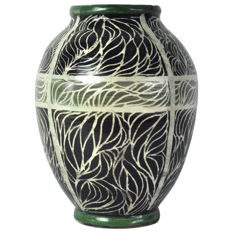 Unique Hand-Thrown and Hand-Glazed Danish Ceramic Vase
