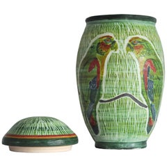 Unique Hand-Thrown and Hand-Glazed Danish Ceramic Vase or Jar