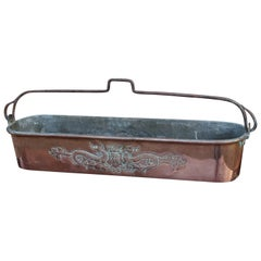 Unique Handcrafted Antique Copper Kitchen Pan for Cooking Fish, Eal, Pike Etc