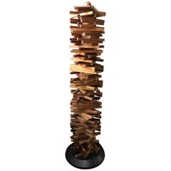 Unique Handcrafted CD Tower, Denmark, Late 20th Century