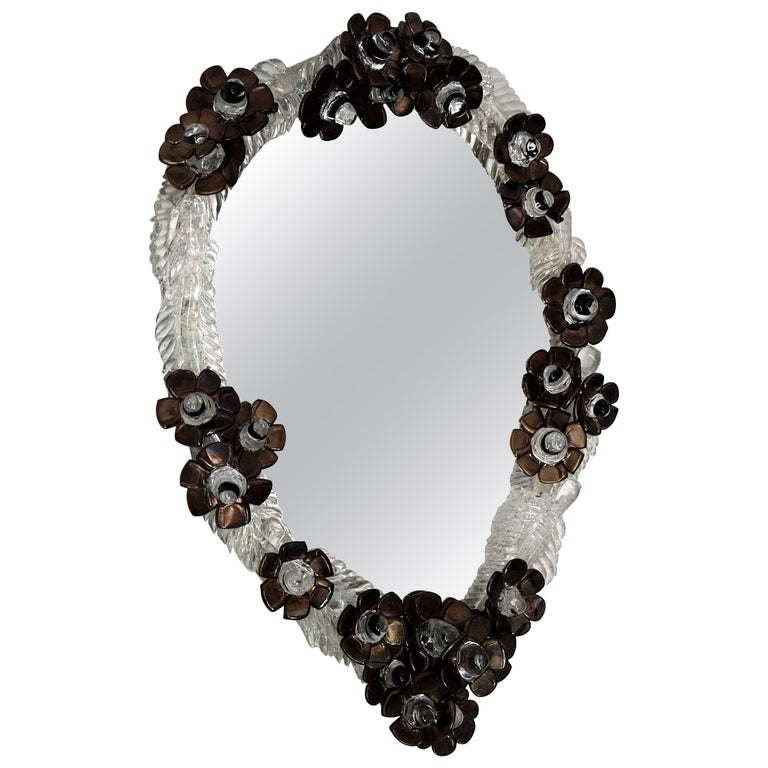 Unique Handmade Glass Mirror by Artist Debby Eerens For Sale