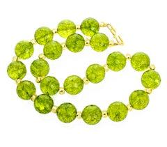 Unique Handmade Glittering Peridot Necklace