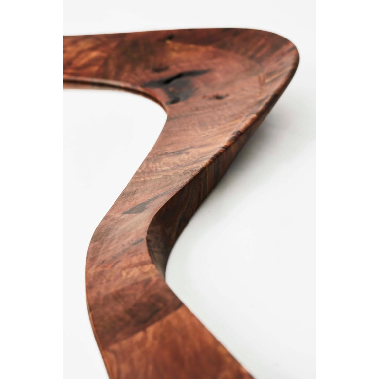 Unique handmade walnut portal mirror by Maxime Goléo Unique Piece Dimensions: W 92x D 10 x H 145 cm Materials: French Walnut  Each piece is unique, handmade, signed and dated. Other dimensions and types of wood on request.  Designer,