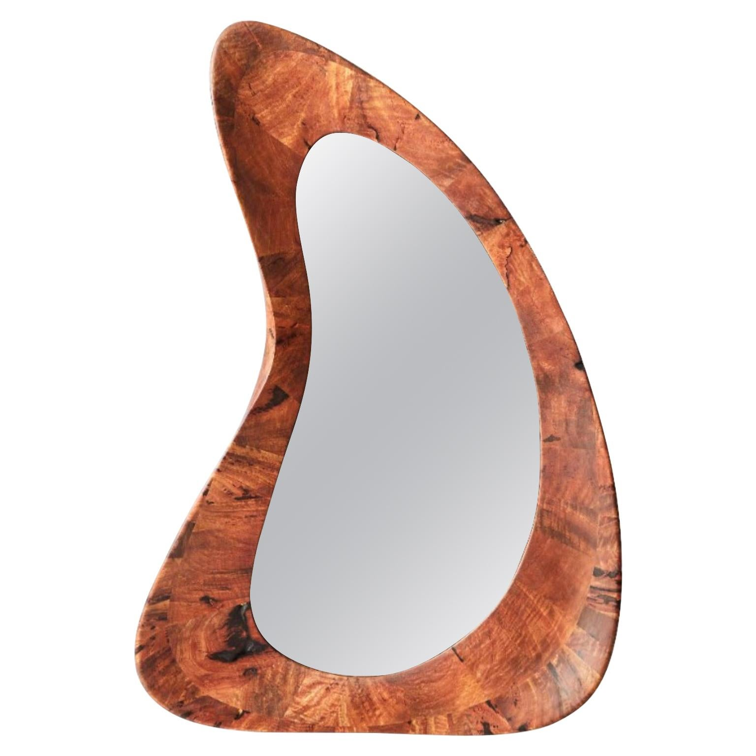 Unique Handmade Walnut Portal Mirror by Maxime Goléo
