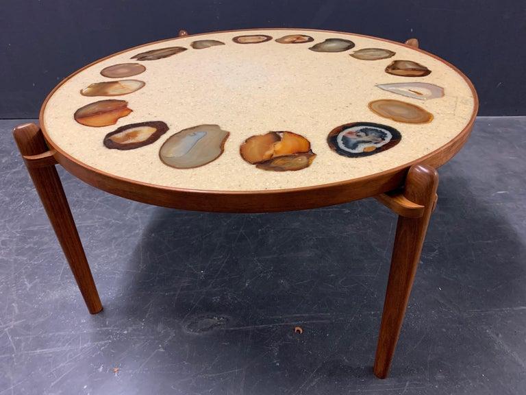 Unique Heinz Lilienthal Agate Coffe Table For Sale 4