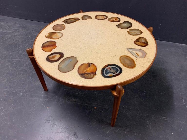 Unique Heinz Lilienthal Agate Coffe Table For Sale 7