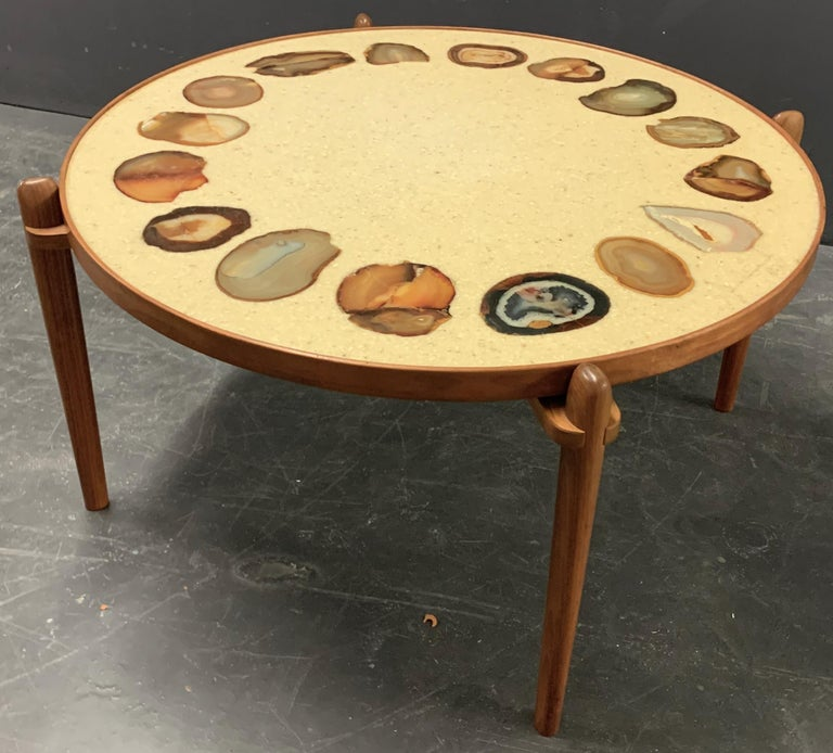 Unique Heinz Lilienthal Agate Coffe Table For Sale 8