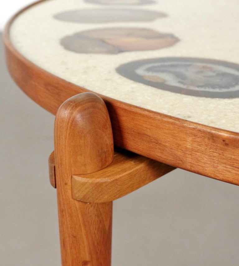 Mid-Century Modern Unique Heinz Lilienthal Agate Coffe Table For Sale