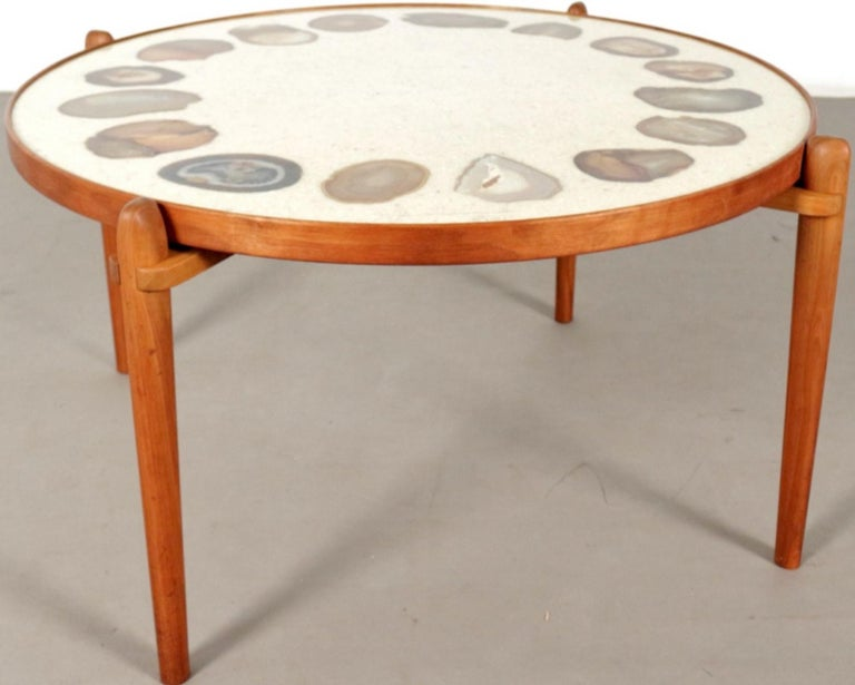 Unique Heinz Lilienthal Agate Coffe Table For Sale 2