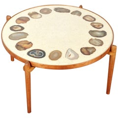 Unique Heinz Lilienthal Agate Coffe Table