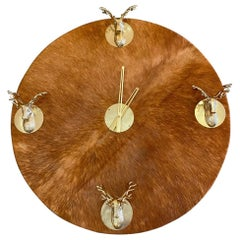 Unique Hide and Stag Heads Custom Wall Clock