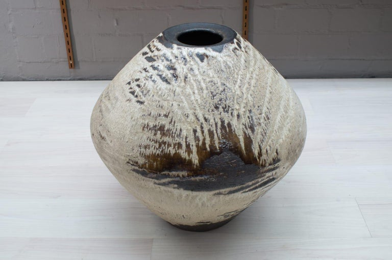 Ceramic Unique Huge Floor Vase from the German Artist Couple Wilhelm & Elly KUCH, 1960s For Sale