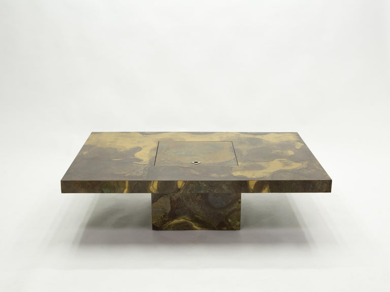 Unique Isabelle and Richard Faure Brass Coffee Table, 1970s For Sale 5