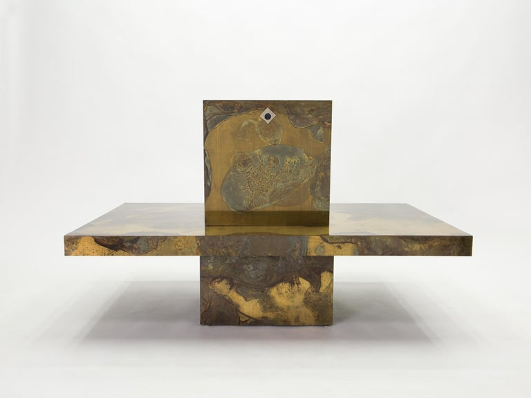Unique Isabelle and Richard Faure Brass Coffee Table, 1970s For Sale 7