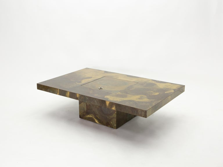 Unique Isabelle and Richard Faure Brass Coffee Table, 1970s For Sale 3