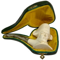 Unique Ismet Bekler CAO Napoleon Meerschaum Pipe Hand Carved Limited Edition