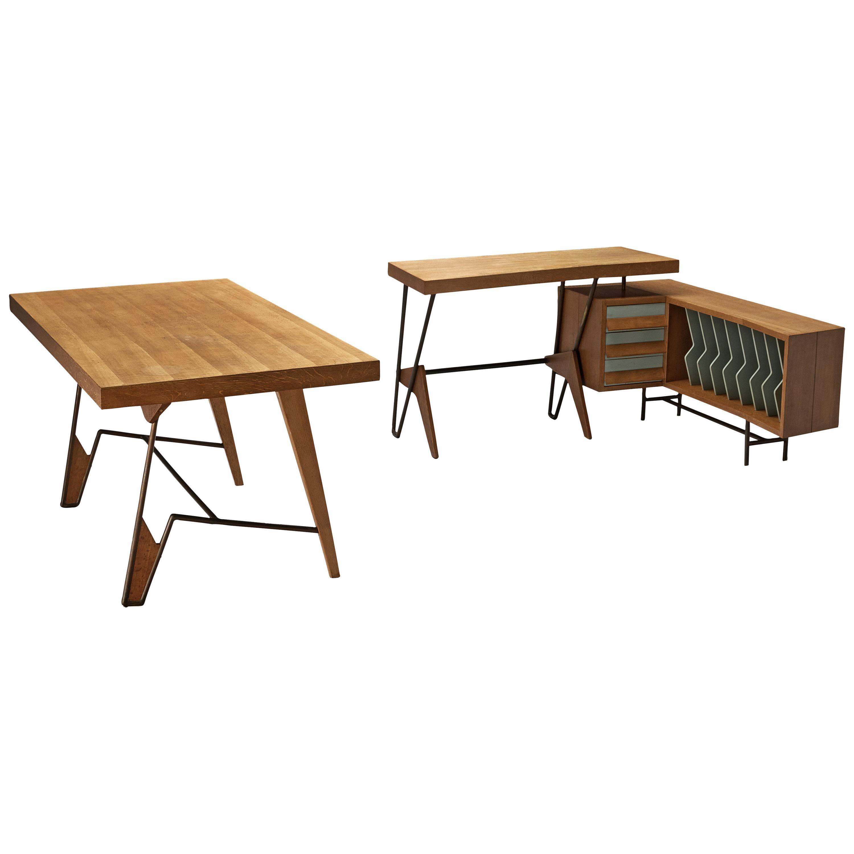 Unique Italian Free-Standing Corner Desk