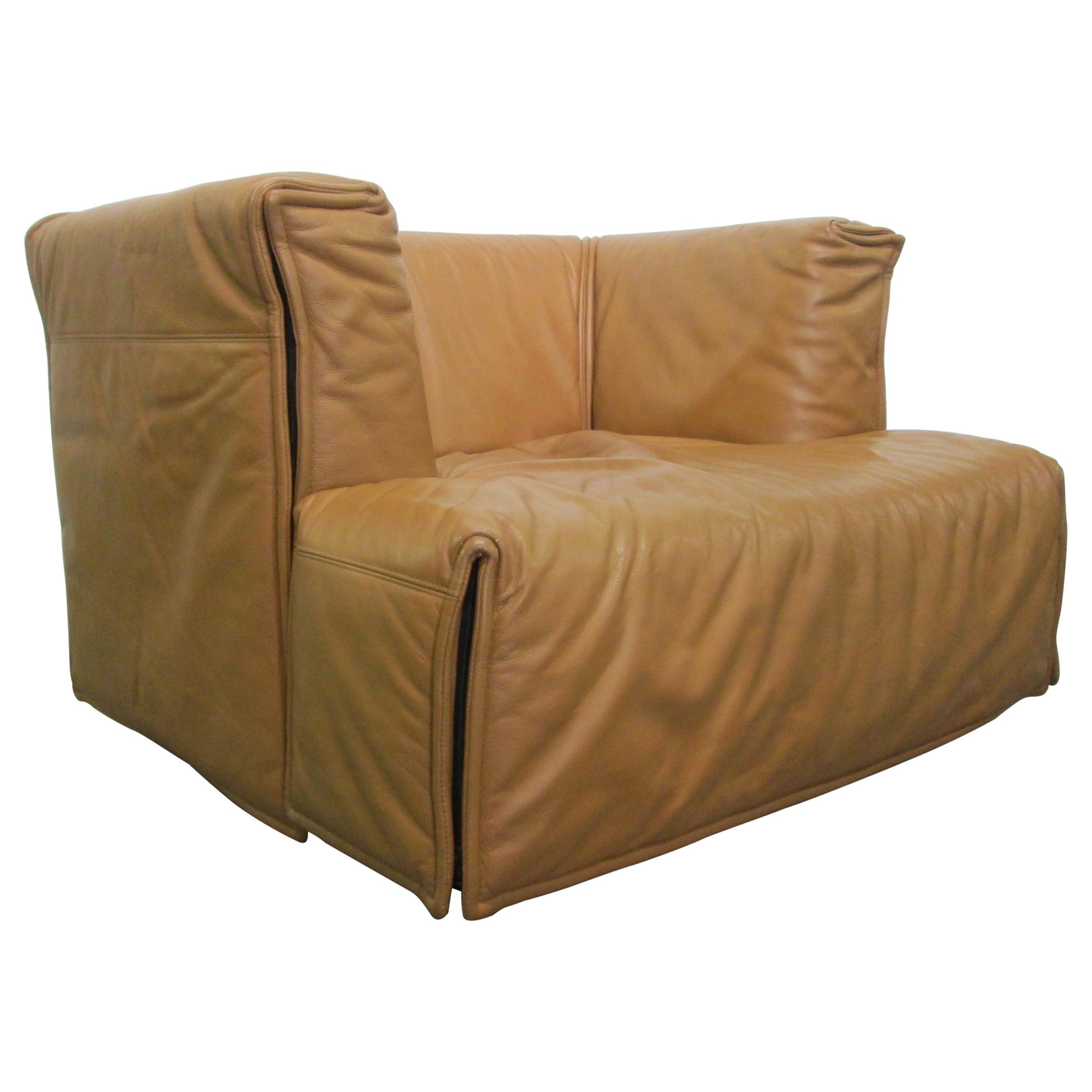 Unique Italian Leather Chair