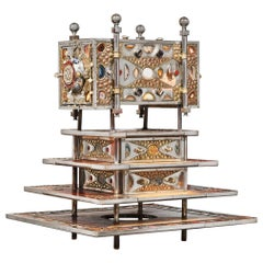 Unique Jewelry Cabinet 1995 by Daniel Arnoul, Silver, Copper, Precious Stones