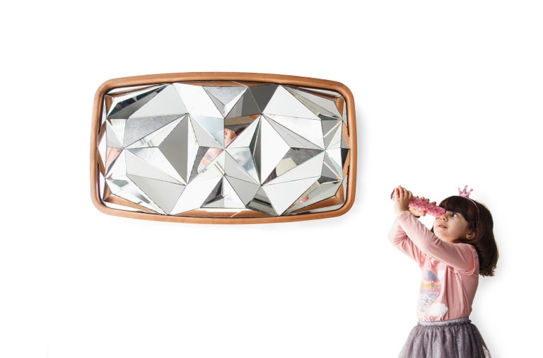 Portuguese Unique Kaleidoscope Mirror by André Teoman Studio For Sale