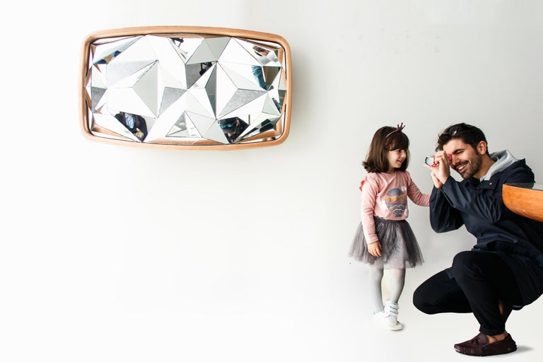 Other Unique Kaleidoscope Mirror by André Teoman Studio For Sale