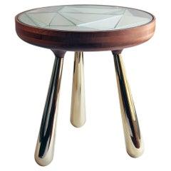 Unique Kaleidoscope Side Table by André Teoman Studio