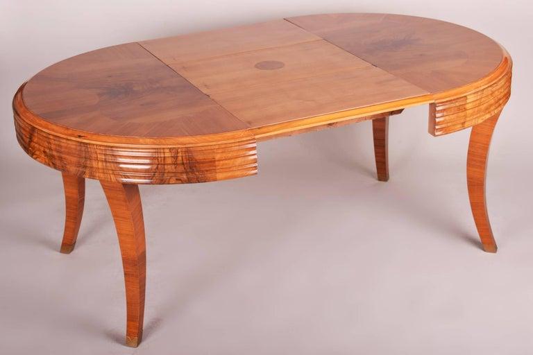 Unique Large Art Deco Extendable Dining Table 4