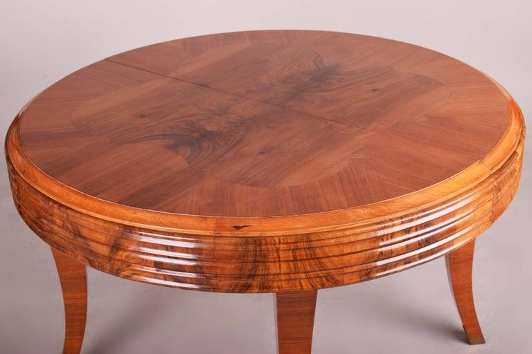 Czech Unique Large Art Deco Extendable Dining Table