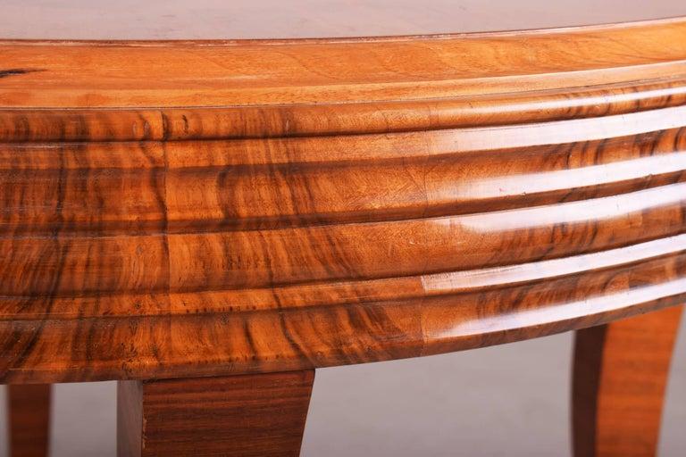 Wood Unique Large Art Deco Extendable Dining Table