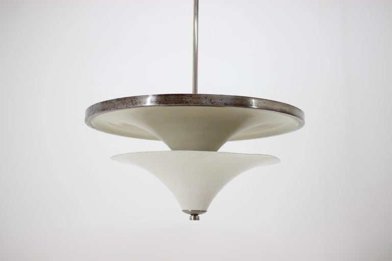 Unique Large Bauhaus Chandelier by Franta Anyz, 1930s In Good Condition For Sale In Praha, CZ