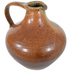 Unique Large Brown Ceramic Jug by Wilhelm & Elly Kuch, Germany, 1960s