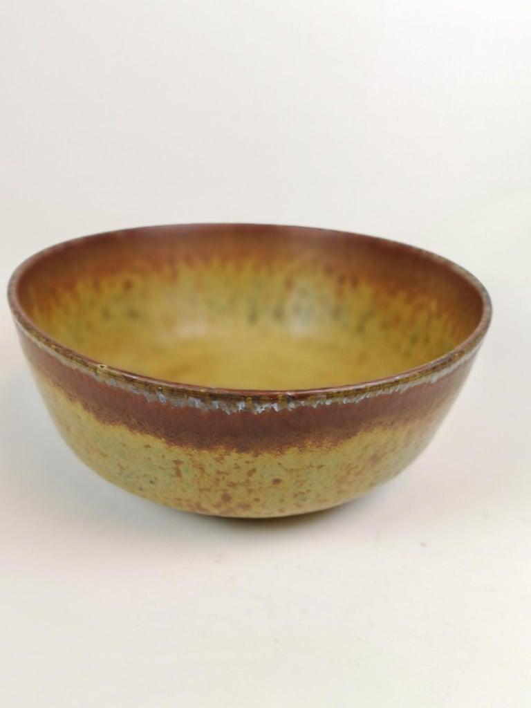 Unique Large Ceramic Bowl Carl-Harry Stålhane Rörstrand, Sweden For Sale 4