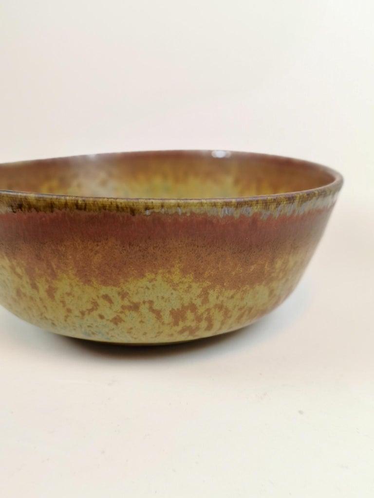 Unique Large Ceramic Bowl Carl-Harry Stålhane Rörstrand, Sweden In Excellent Condition For Sale In Langserud, SE