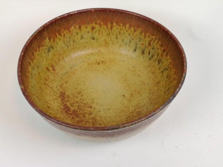 Unique Large Ceramic Bowl Carl-Harry Stålhane Rörstrand, Sweden For Sale 1