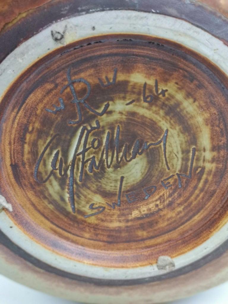 Unique Large Ceramic Bowl Carl-Harry Stålhane Rörstrand, Sweden For Sale 3