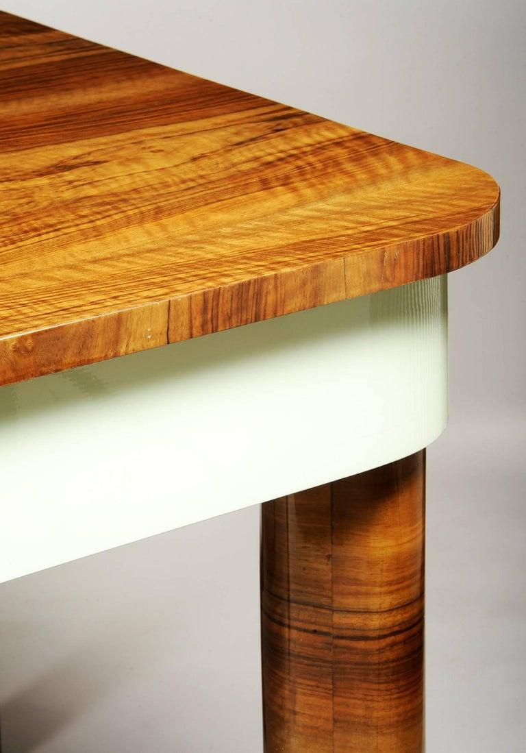 Czech Unique Large Functionalism Extendable Dining Table For Sale