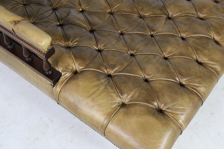 Unique Large Midcentury Daybed, Chesterfield Bed, Midcentury, Recamier, Sofa For Sale 3
