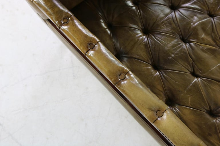 Unique Large Midcentury Daybed, Chesterfield Bed, Midcentury, Recamier, Sofa For Sale 7