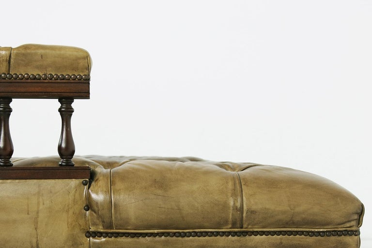 Unique Large Midcentury Daybed, Chesterfield Bed, Midcentury, Recamier, Sofa For Sale 8
