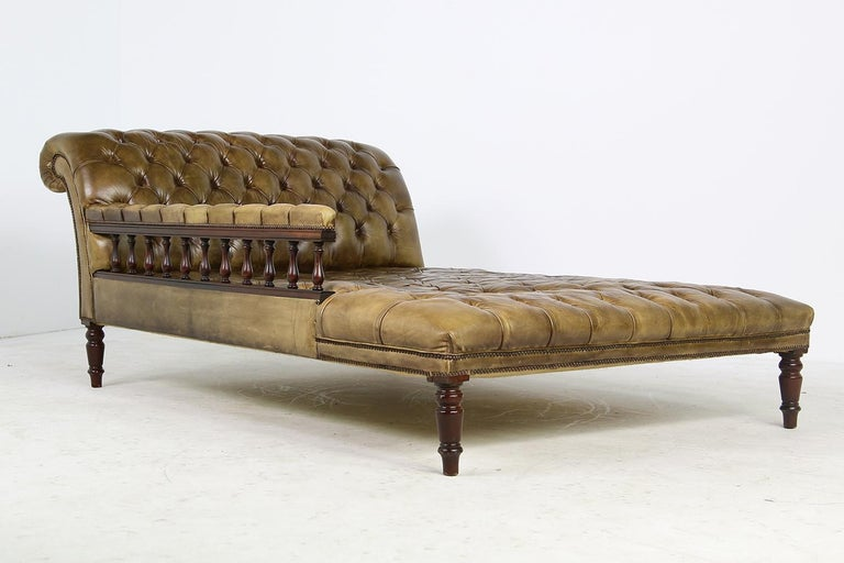 Mid-Century Modern Unique Large Midcentury Daybed, Chesterfield Bed, Midcentury, Recamier, Sofa For Sale
