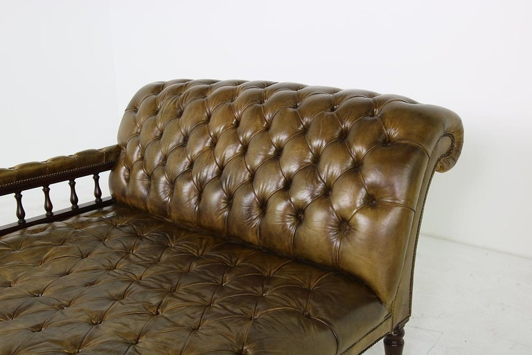 20th Century Unique Large Midcentury Daybed, Chesterfield Bed, Midcentury, Recamier, Sofa For Sale