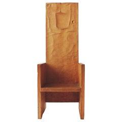 Unique Lino Bersani Chair Hand Engraved by Franco Casoni, Italy, 1978