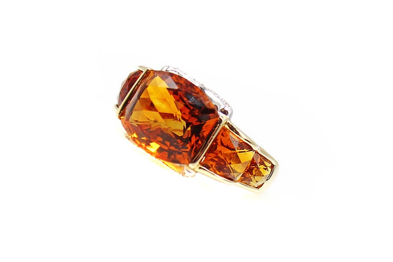 959162b3c370c Unique Madeira Citrine Diamond Yellow Gold Ring