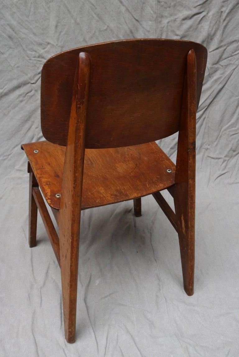 Unique Midcentury Wooden Chair by Jean Prouvé For Sale 1