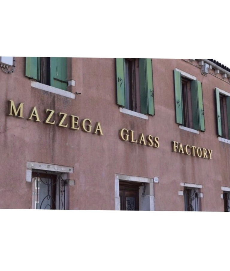 Unique Midcentury Italian Amber Murano Chandelier by Mazzega, 1970s For Sale 9
